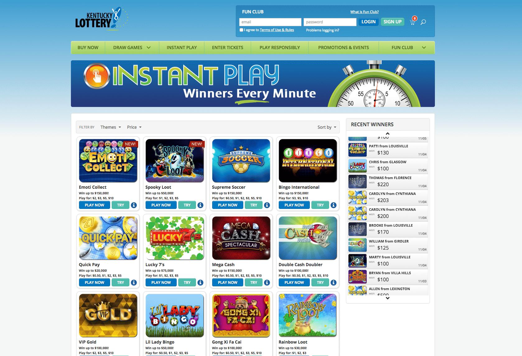 Kentucky Online Lottery screenshot