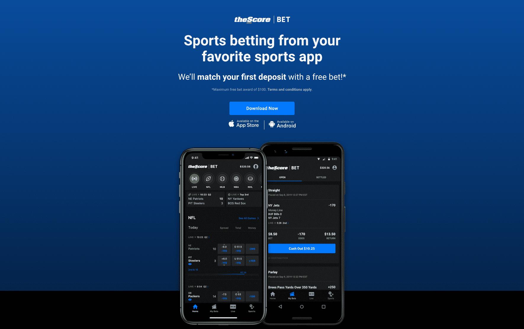 theScore Bet screenshot