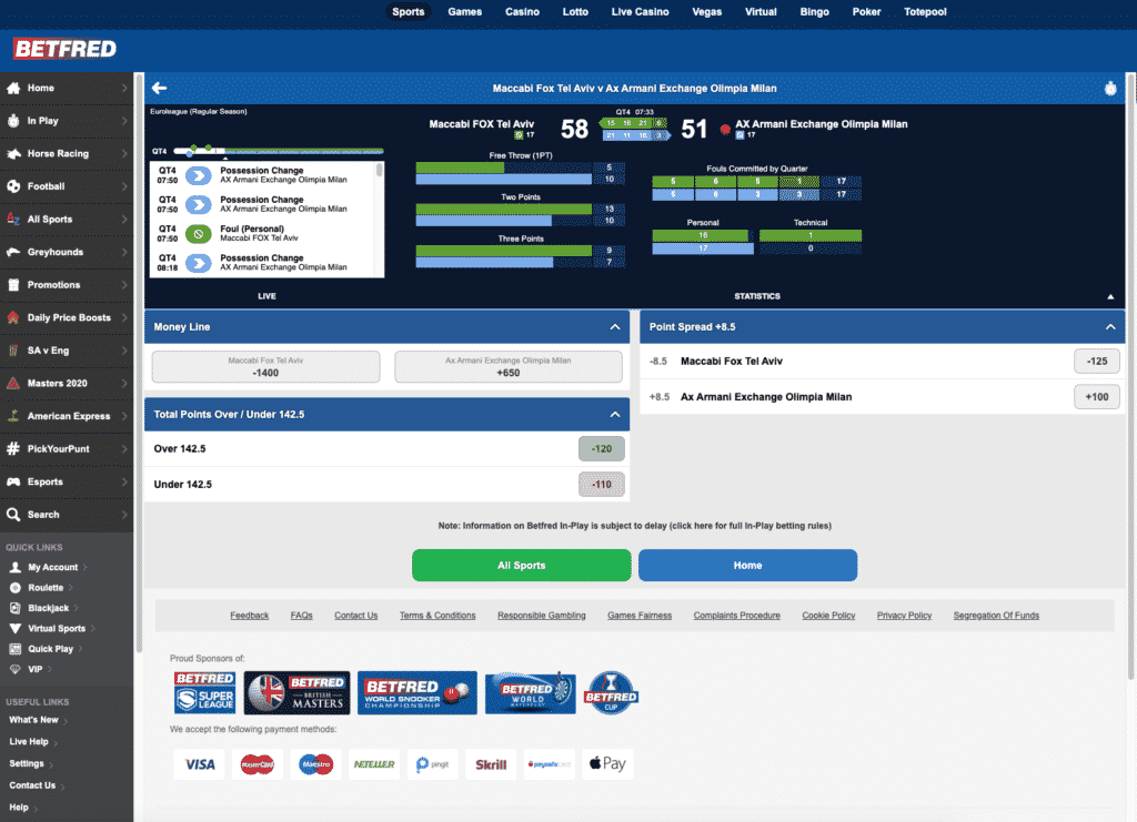 Betfred in play betting 2